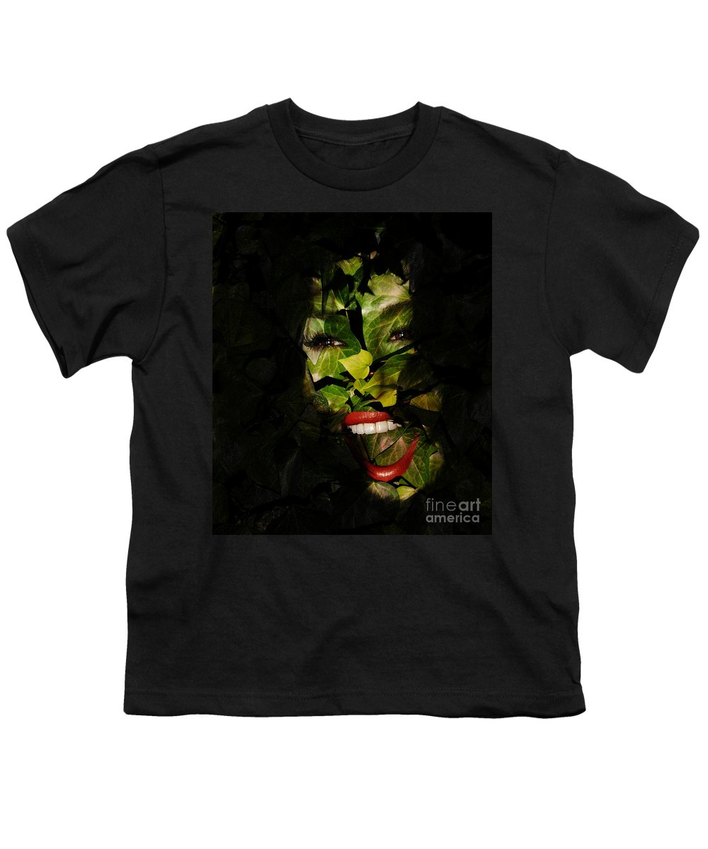 Clay Youth T-Shirt featuring the photograph The Eyes Of Ivy by Clayton Bruster