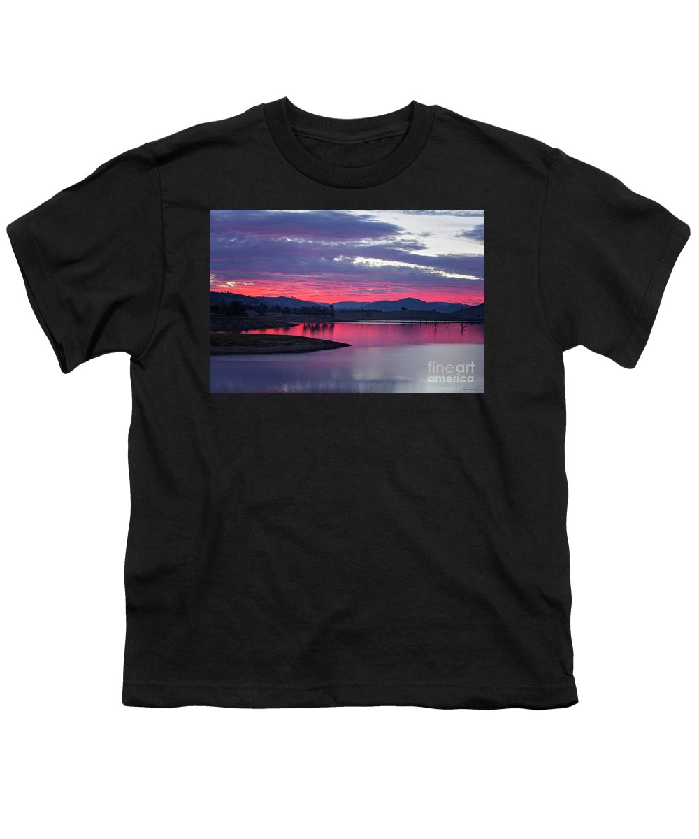Sunset Youth T-Shirt featuring the photograph The Gloaming by Linda Lees