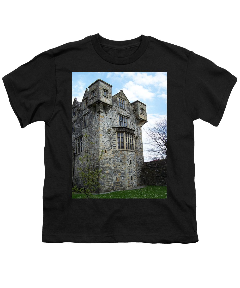 Ireland Youth T-Shirt featuring the photograph The Keep At Donegal Castle Ireland by Teresa Mucha