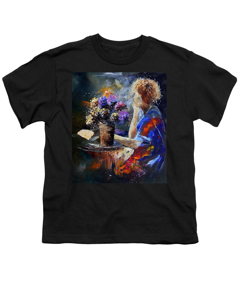 Girl Nude Youth T-Shirt featuring the painting The Letter by Pol Ledent