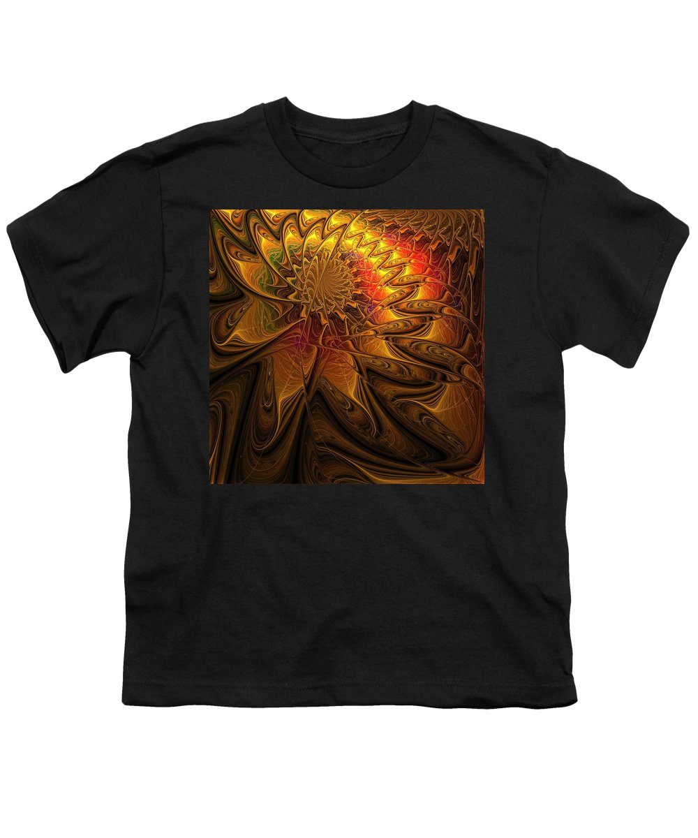 Digital Art Youth T-Shirt featuring the digital art The Midas Touch by Amanda Moore