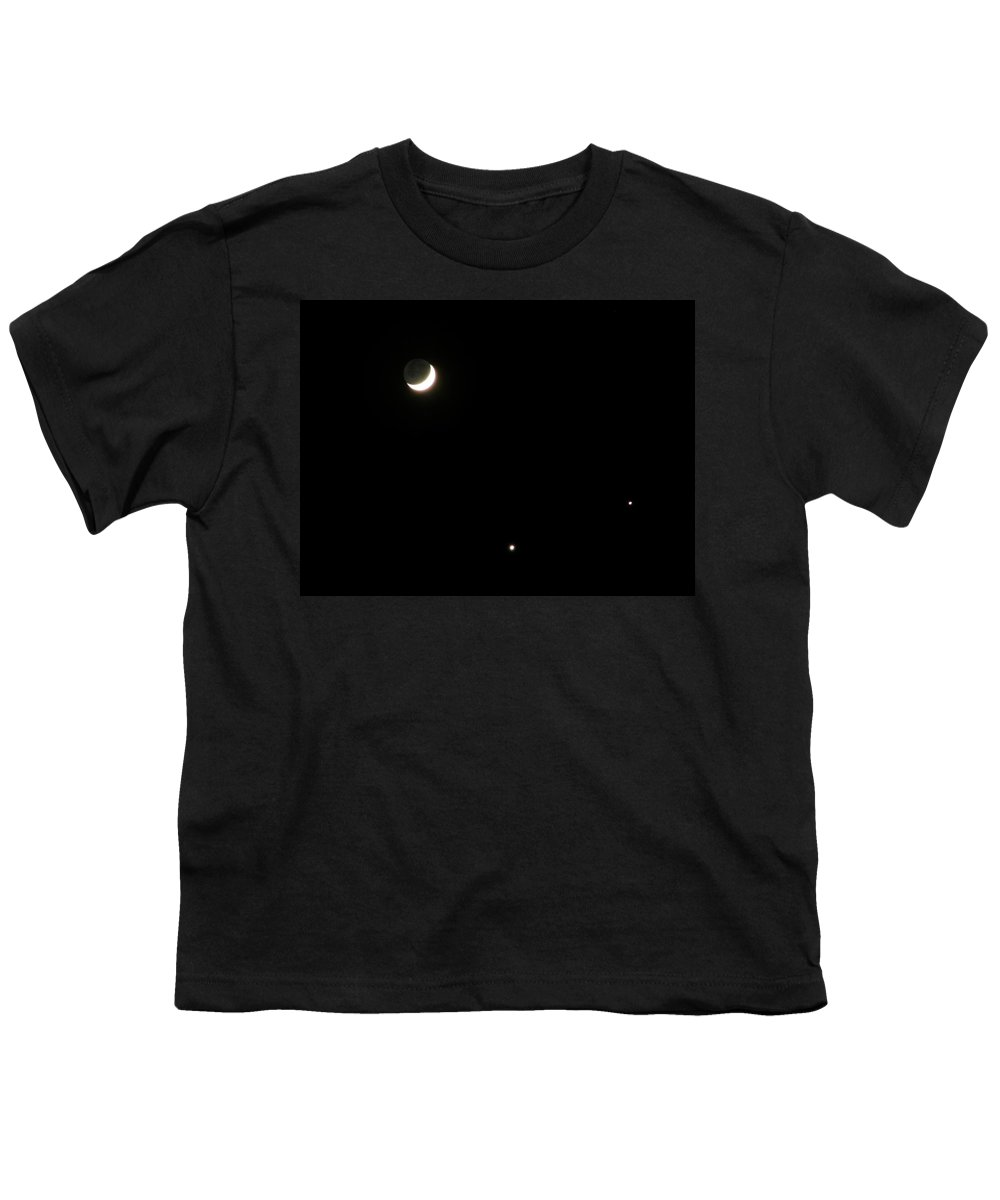Moon Youth T-Shirt featuring the photograph The Moon And Stars by Gale Cochran-Smith