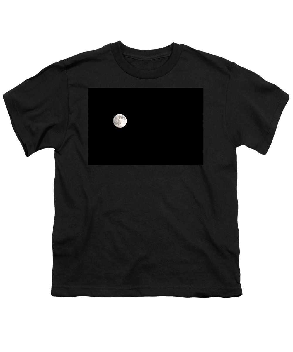 Clay Youth T-Shirt featuring the photograph The Moon by Clayton Bruster