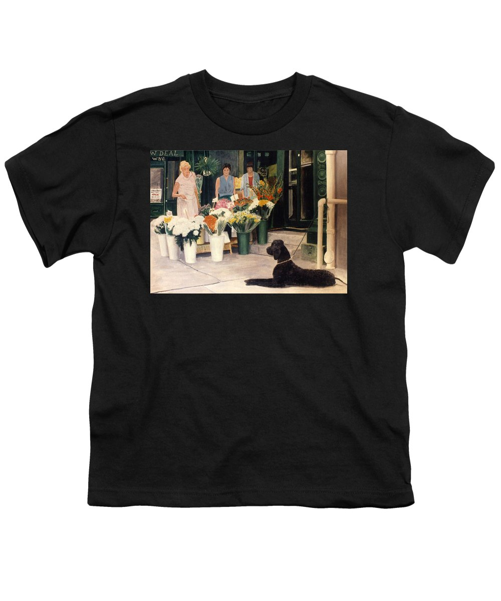 Mums Youth T-Shirt featuring the painting The New Deal by Steve Karol