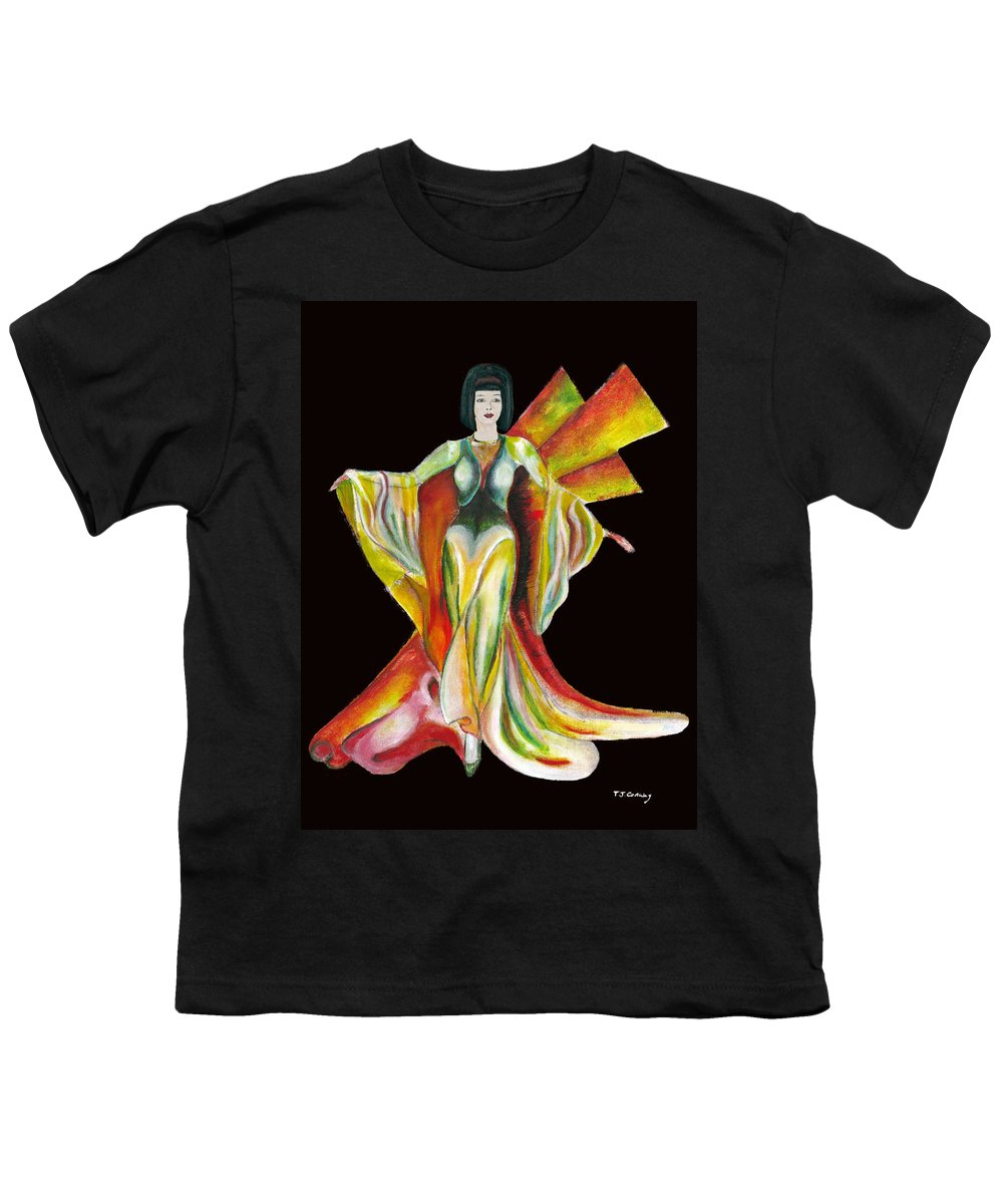 Dresses Youth T-Shirt featuring the painting The Phoenix 2 by Tom Conway