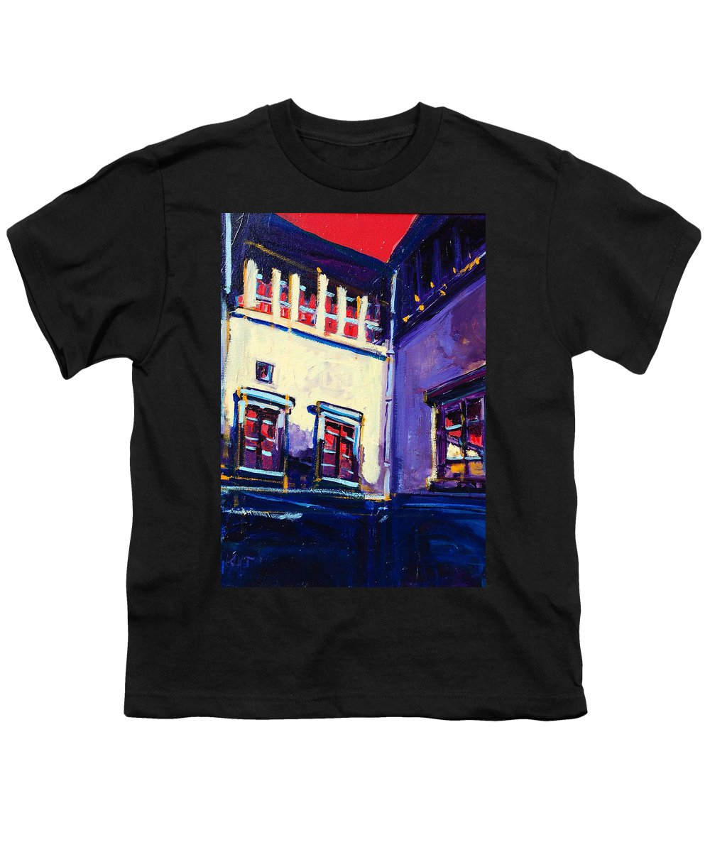 School Youth T-Shirt featuring the painting The School by Kurt Hausmann