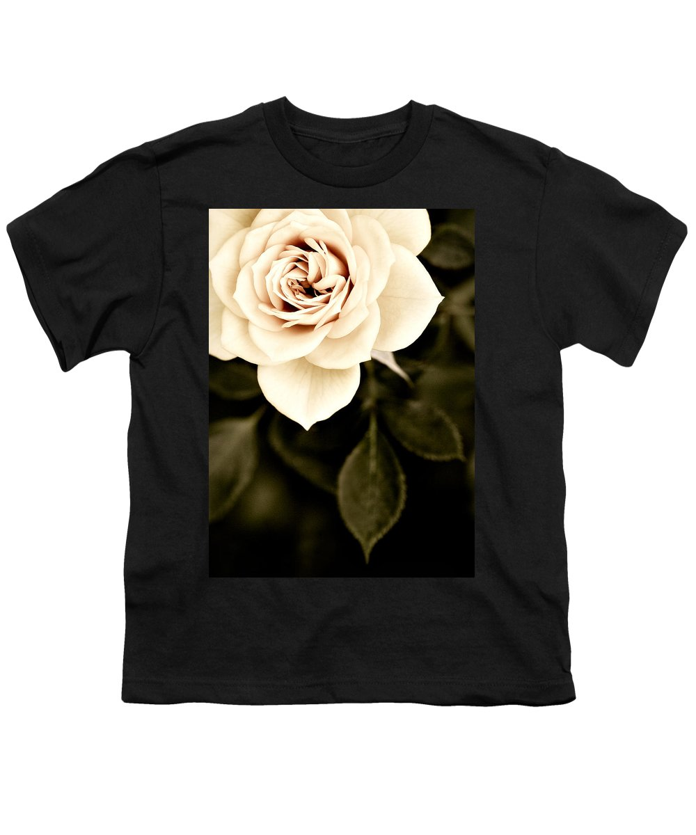 Rose Youth T-Shirt featuring the photograph The Softest Rose by Marilyn Hunt