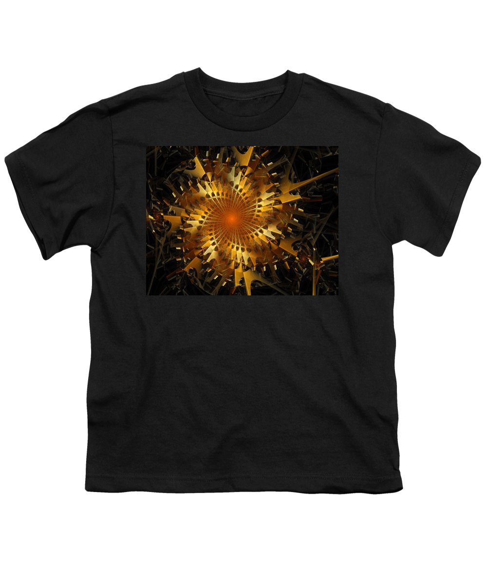 Digital Art Youth T-Shirt featuring the digital art The Wheels Of Time by Amanda Moore