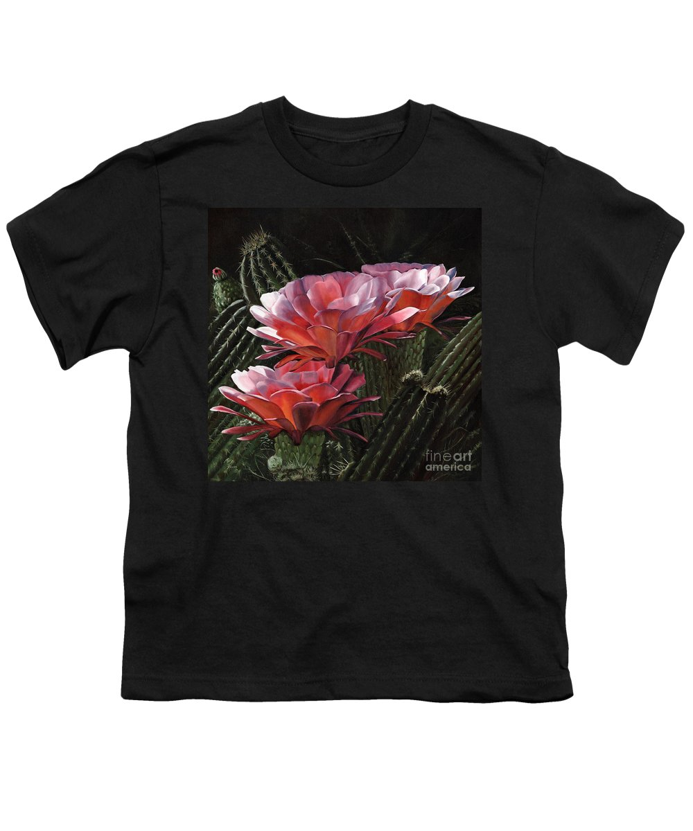 Art Youth T-Shirt featuring the painting Three Sisters by Mary Rogers