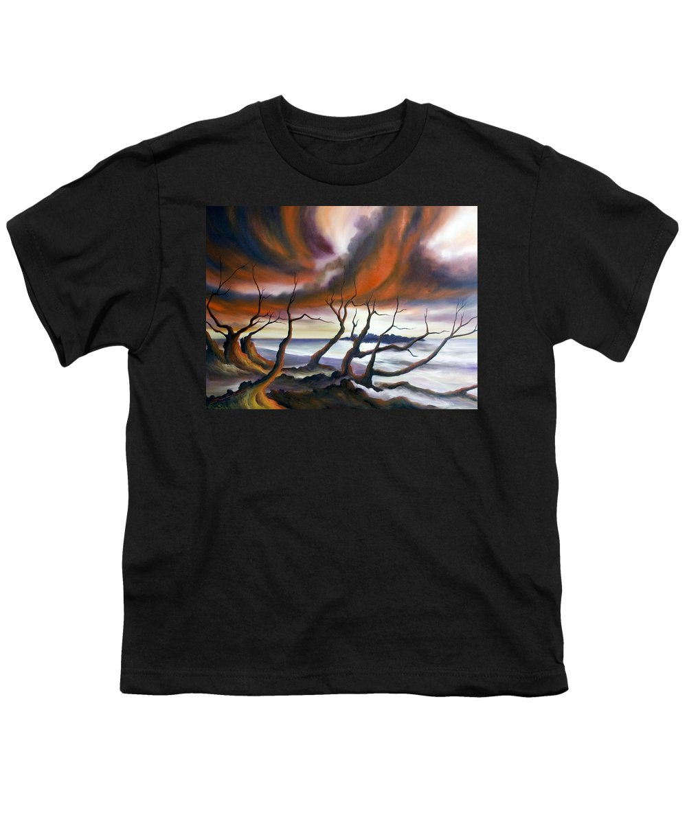 Marsh Youth T-Shirt featuring the painting Tideland by James Christopher Hill
