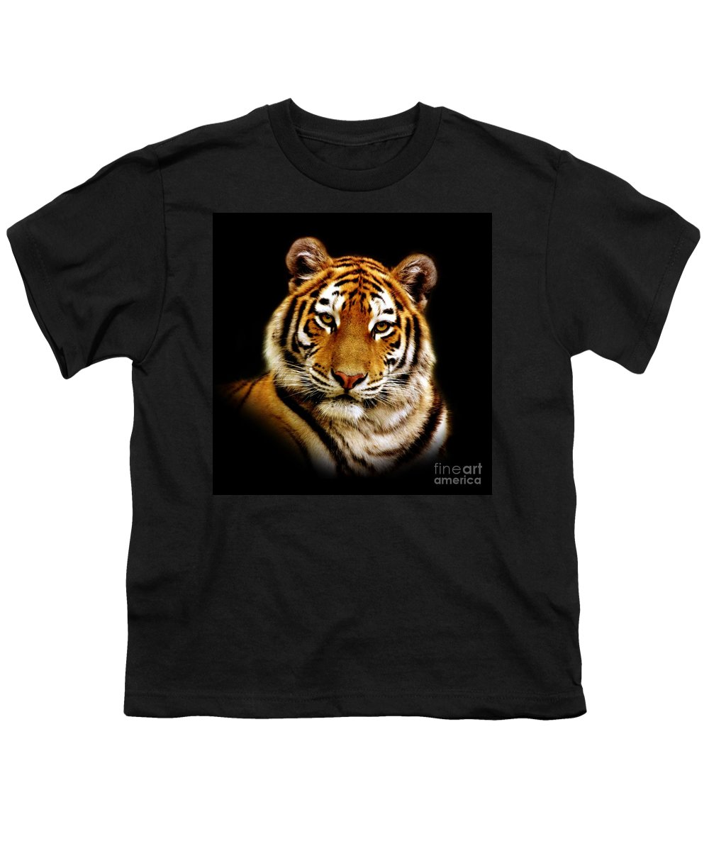 Wildlife Youth T-Shirt featuring the photograph Tiger by Jacky Gerritsen