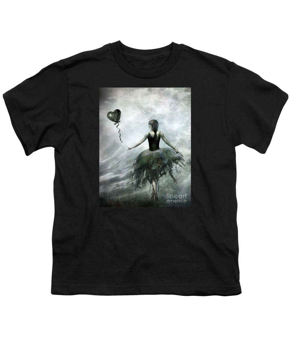 Ballet Youth T-Shirt featuring the painting Time To Let Go by Jacky Gerritsen