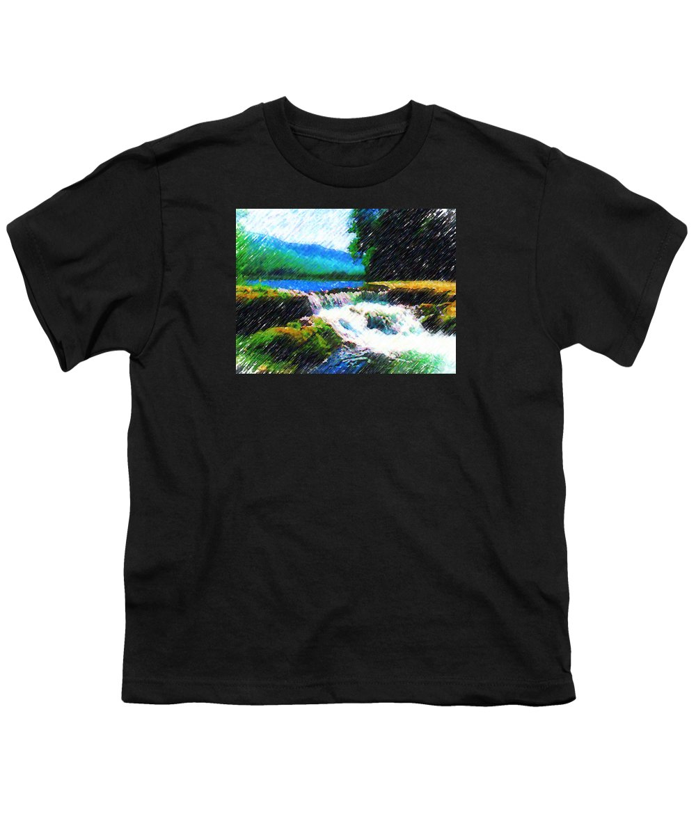 Landscape Youth T-Shirt featuring the photograph Tolhuaca by Madalena Lobao-Tello