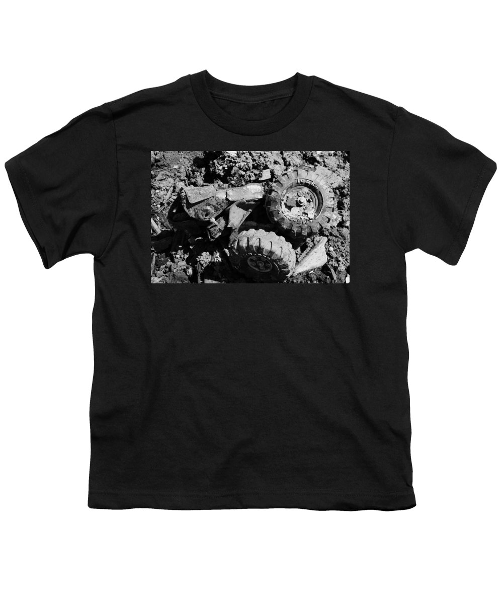 Toy Youth T-Shirt featuring the photograph Tossed Toy by Angus Hooper Iii