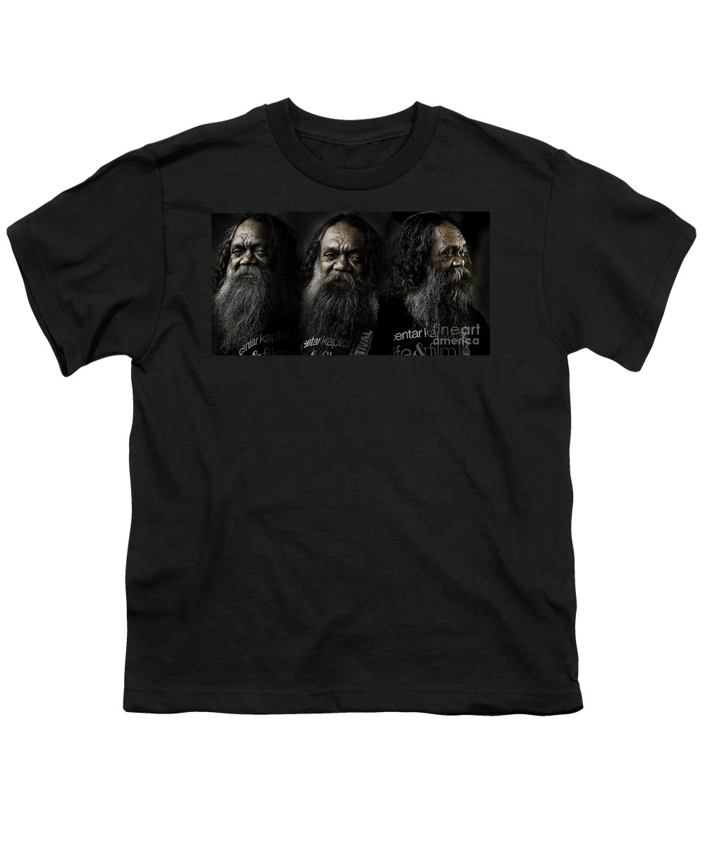 Triptych Youth T-Shirt featuring the photograph Triptych Of Cedric by Avalon Fine Art Photography