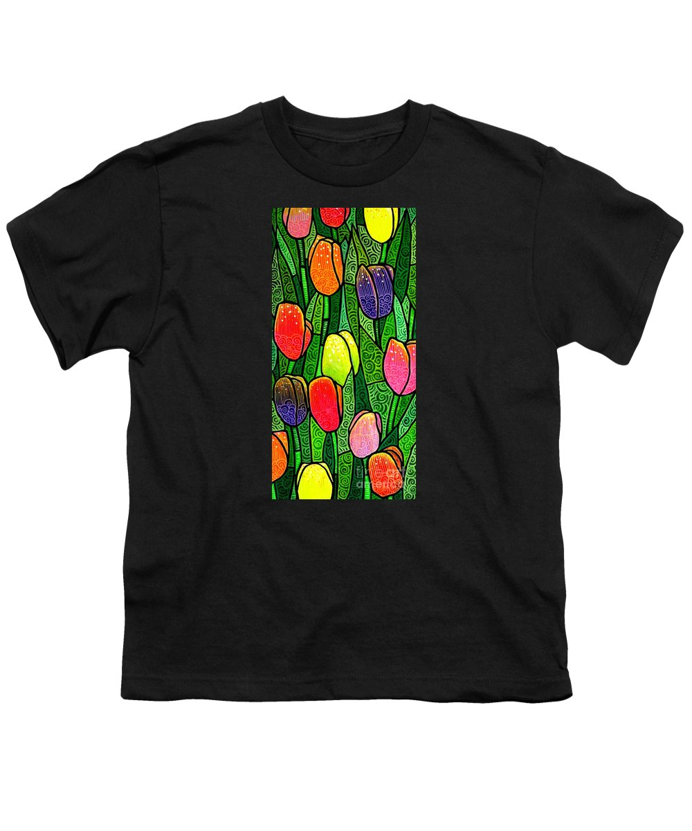 Tulips Youth T-Shirt featuring the painting Tulip Glory by Jim Harris