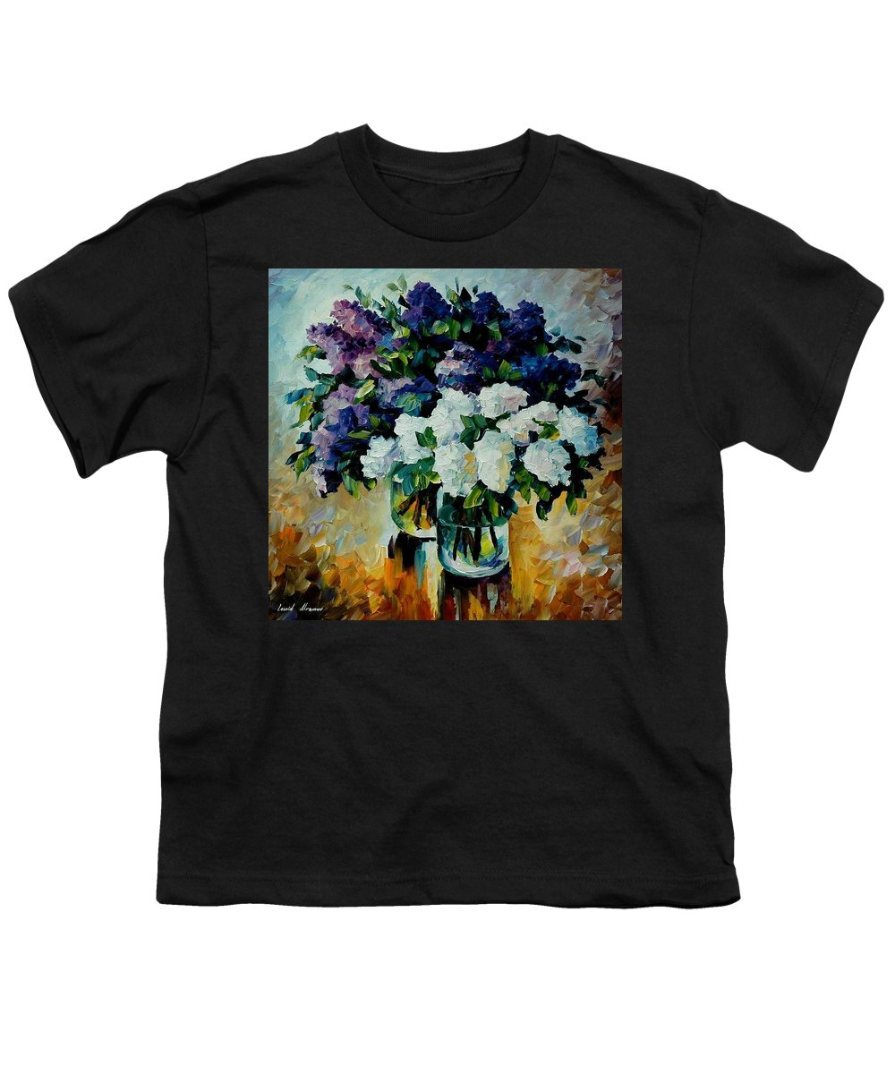 Painting Youth T-Shirt featuring the painting Two Spring Colors by Leonid Afremov