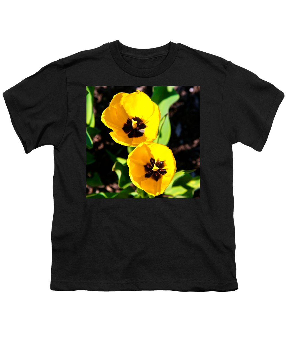 Related Tags: Flowers Artwork Youth T-Shirt featuring the photograph Two Tulips 2 by Robert Pearson