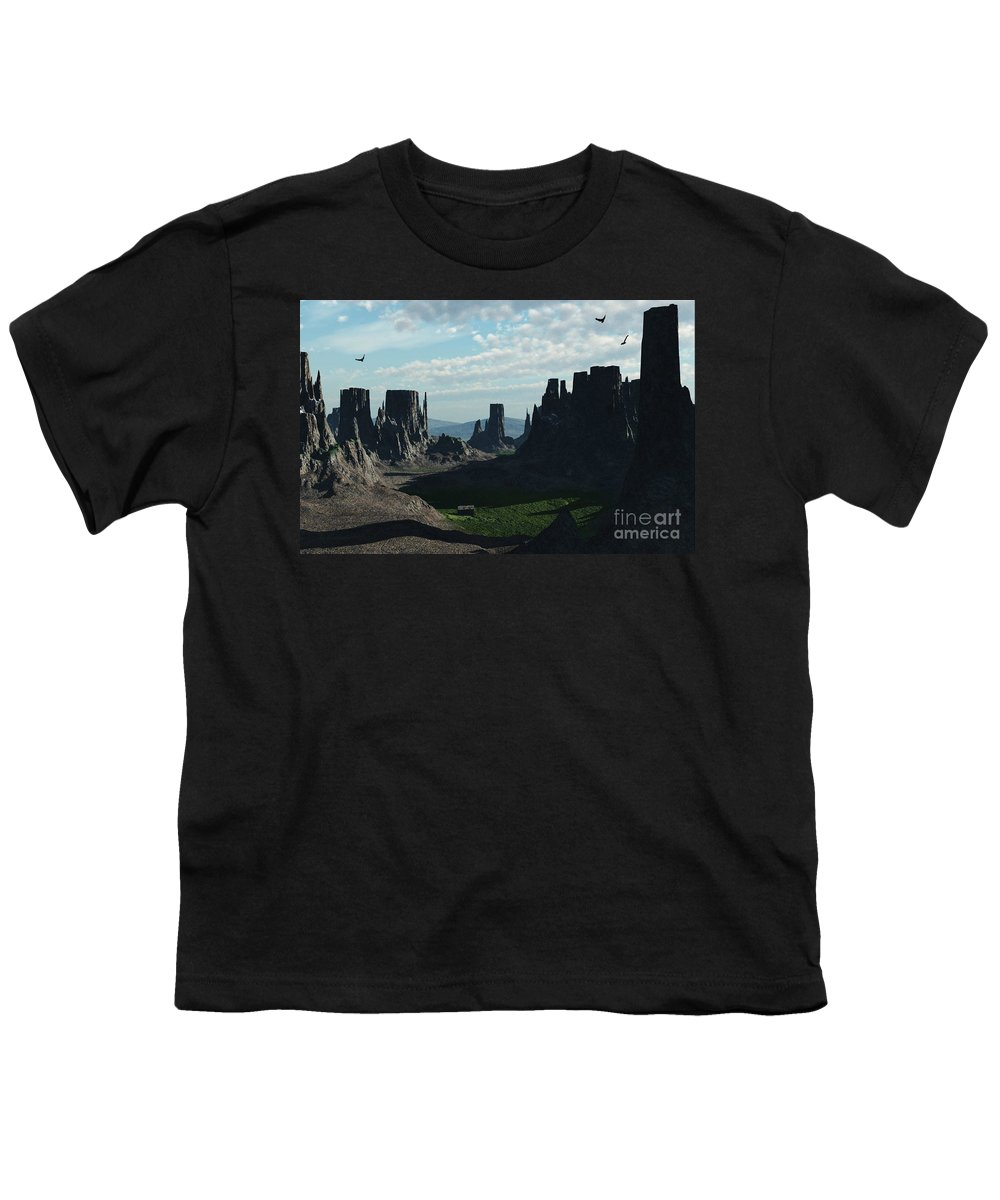 Valley Youth T-Shirt featuring the digital art Valley Of The Kings by Richard Rizzo