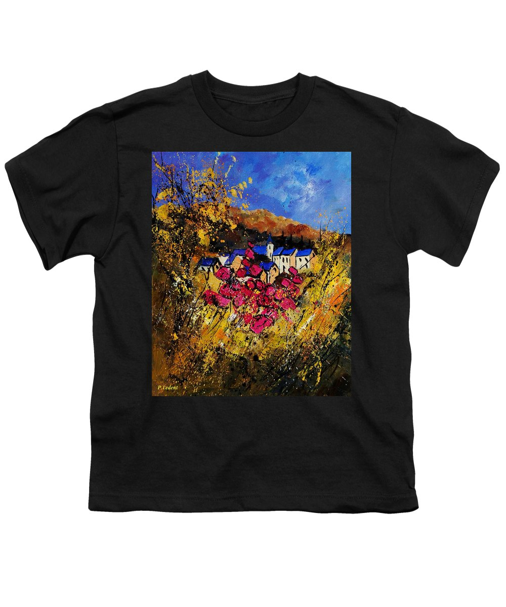 Flowers Youth T-Shirt featuring the painting Village 450808 by Pol Ledent
