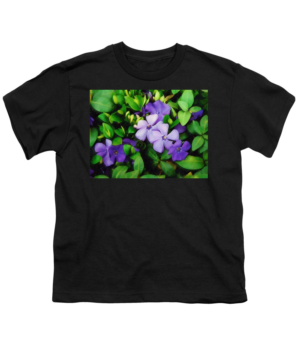 Vinca Youth T-Shirt featuring the photograph Vinca by Sandy MacGowan