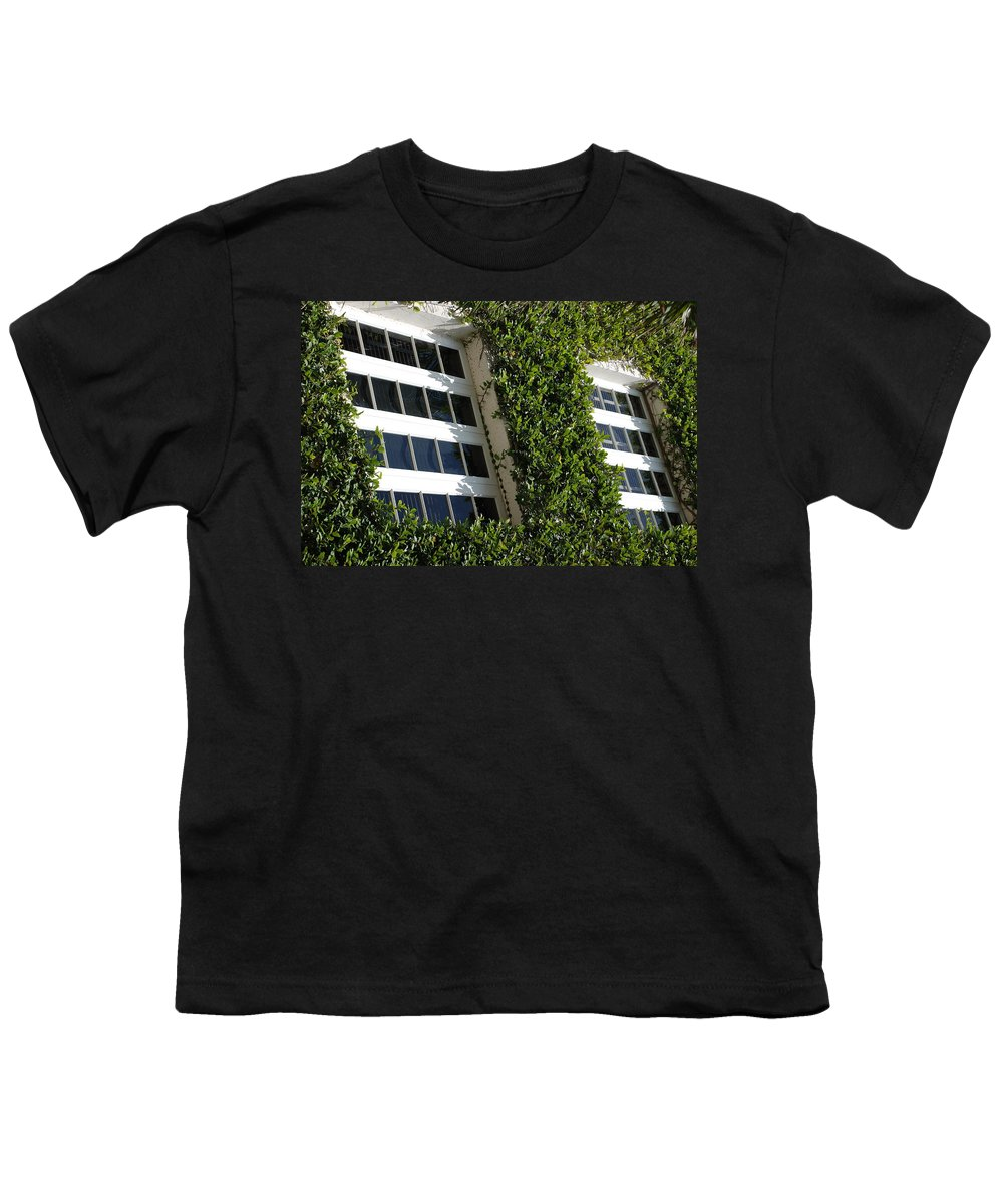 Architecture Youth T-Shirt featuring the photograph Vines And Glass by Rob Hans