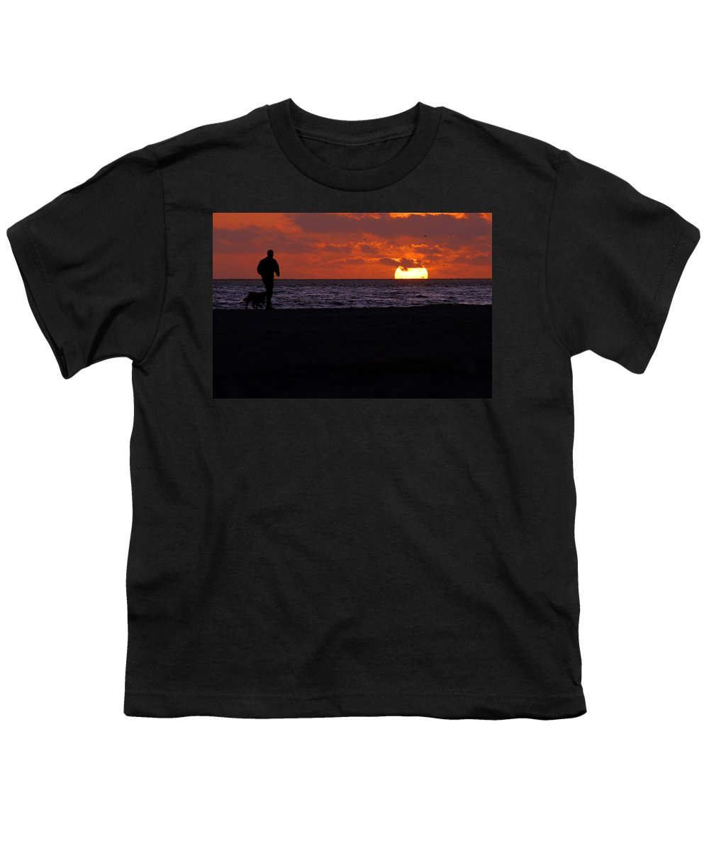 Clay Youth T-Shirt featuring the photograph Walking The Dog by Clayton Bruster