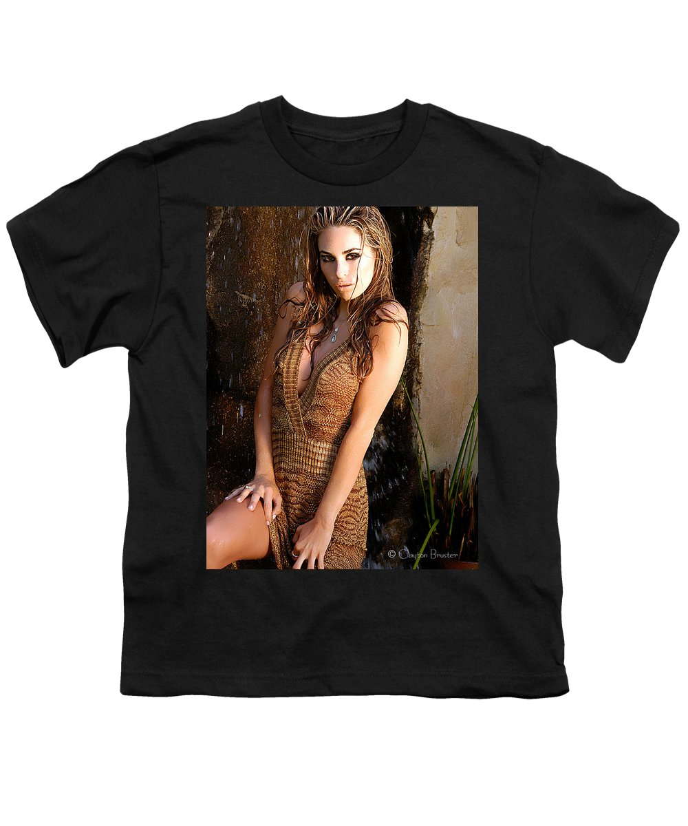 Clay Youth T-Shirt featuring the photograph Water Fall Beauty by Clayton Bruster