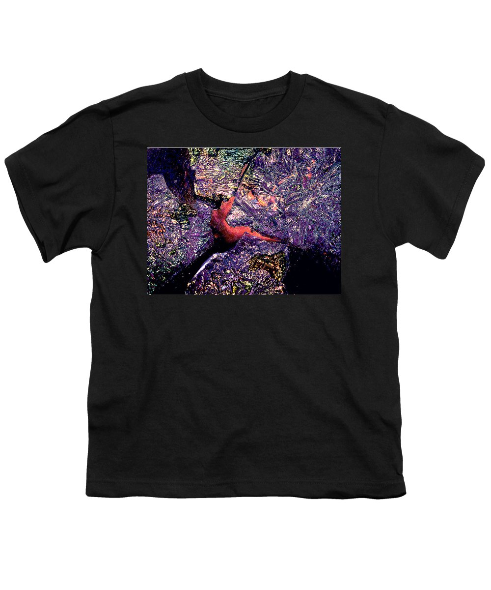 Water Youth T-Shirt featuring the photograph Waterdrop Abstract by Nancy Mueller