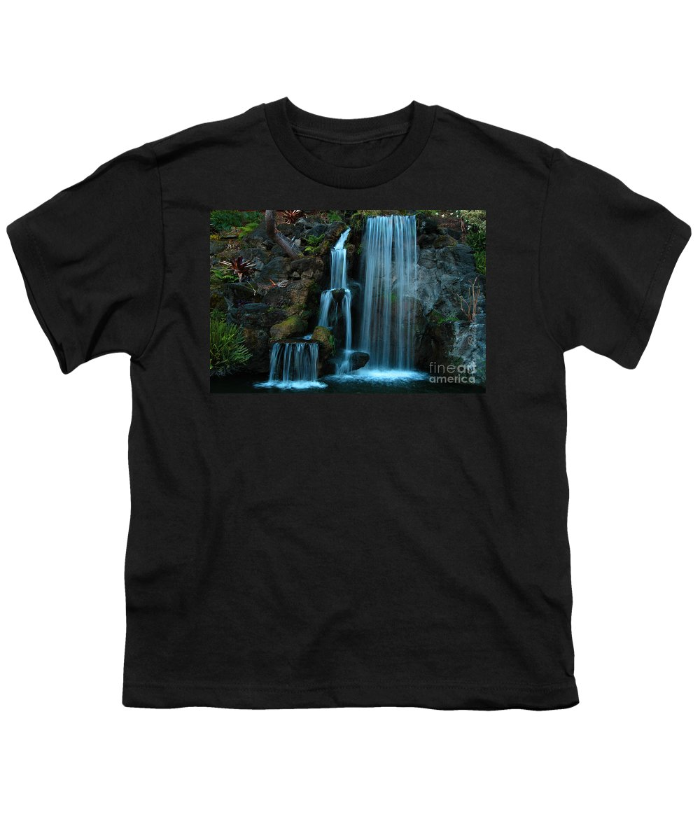 Clay Youth T-Shirt featuring the photograph Waterfalls by Clayton Bruster