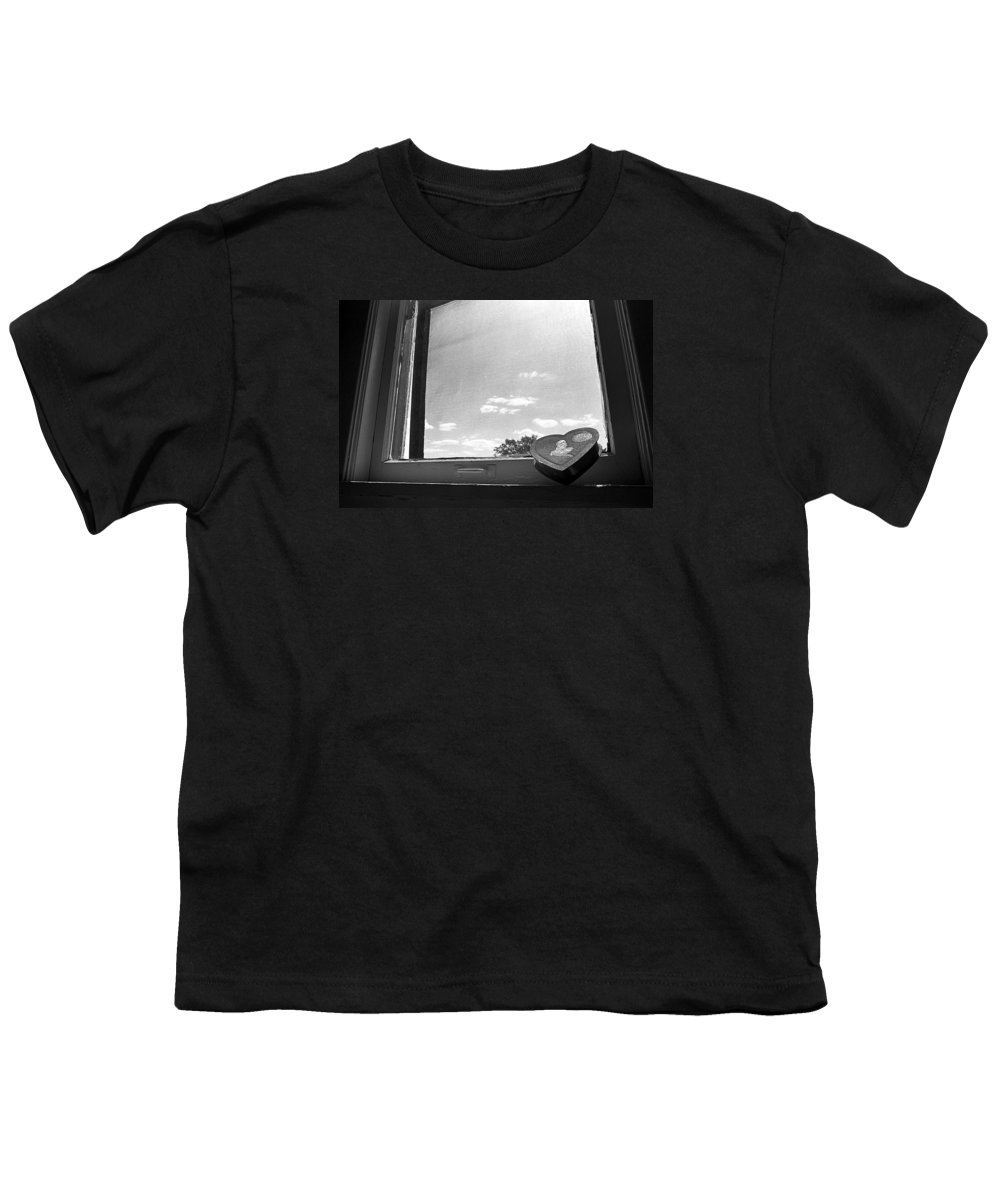 Window Youth T-Shirt featuring the photograph What Remains by Ted M Tubbs