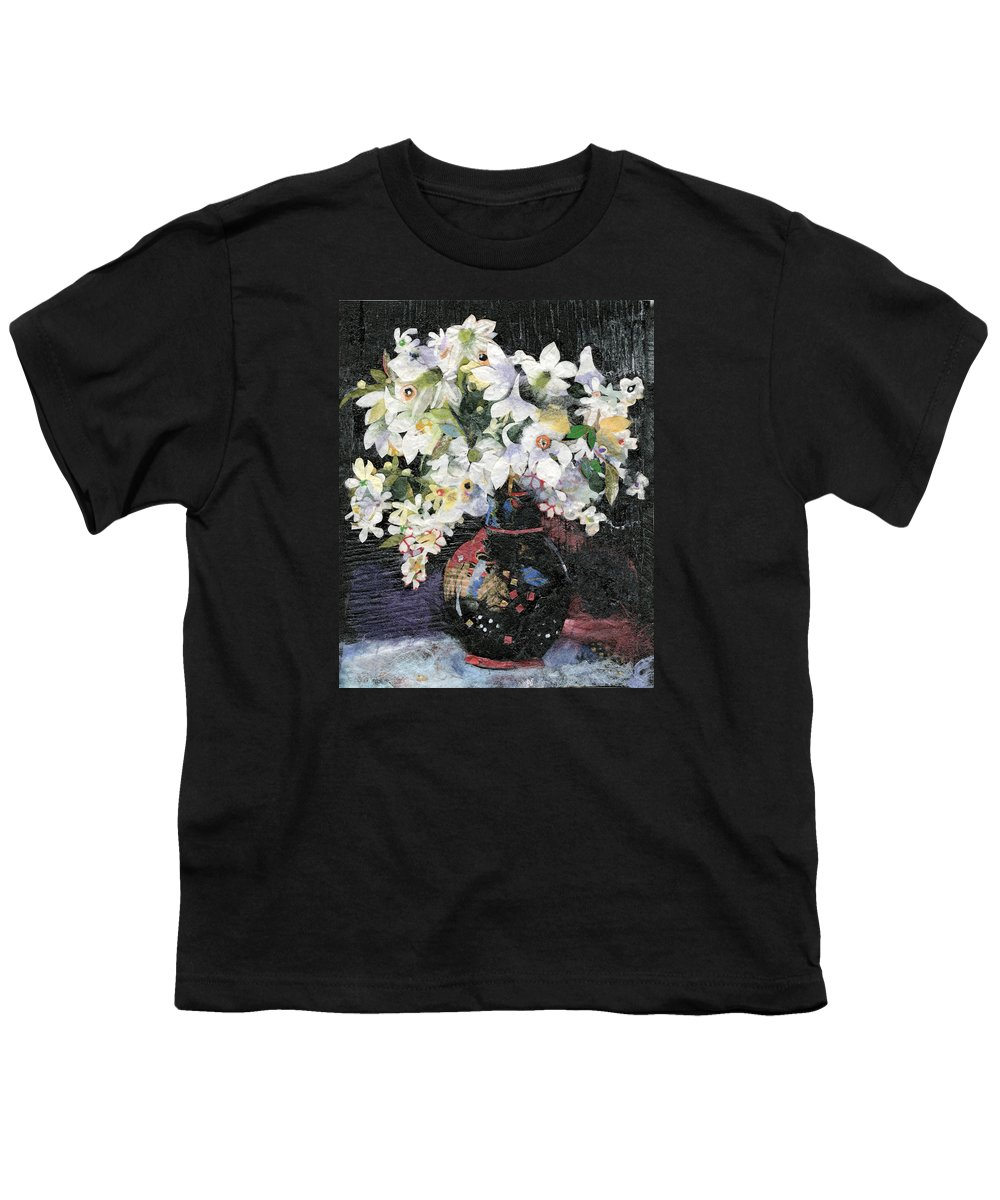 Limited Edition Prints Youth T-Shirt featuring the painting White Celebration by Nira Schwartz
