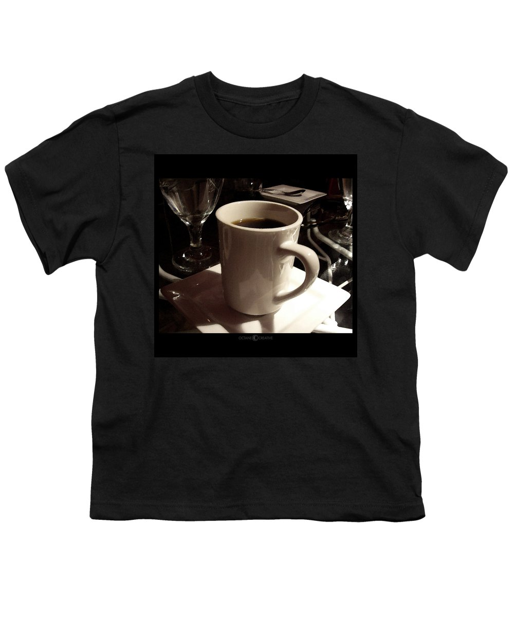 White Youth T-Shirt featuring the photograph White Cup by Tim Nyberg