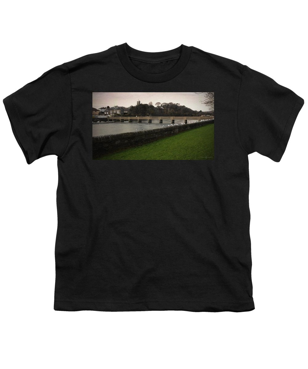 Footbridge Youth T-Shirt featuring the photograph Wicklow Footbridge by Tim Nyberg