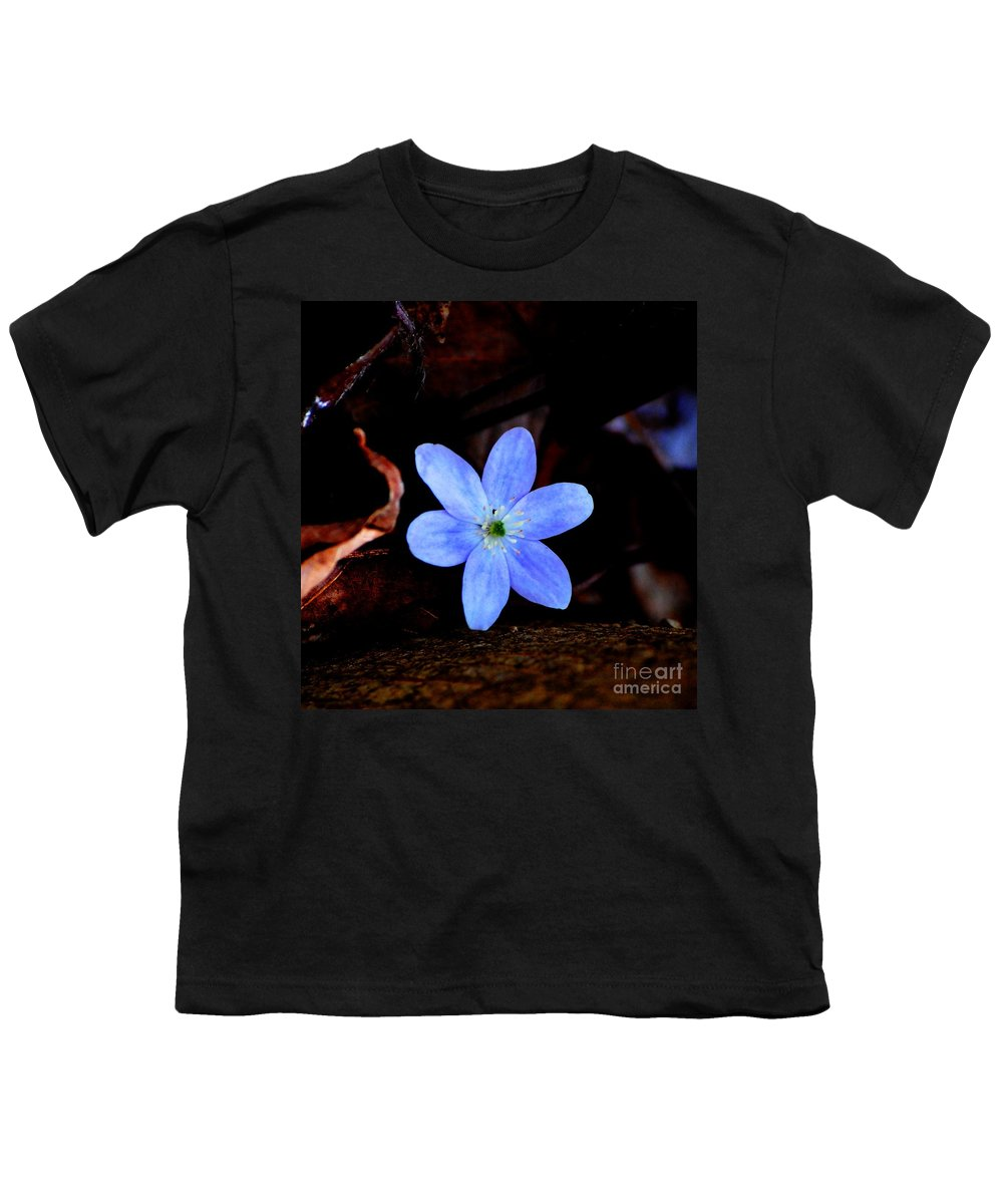 Digital Photo Youth T-Shirt featuring the photograph Wild Blue by David Lane