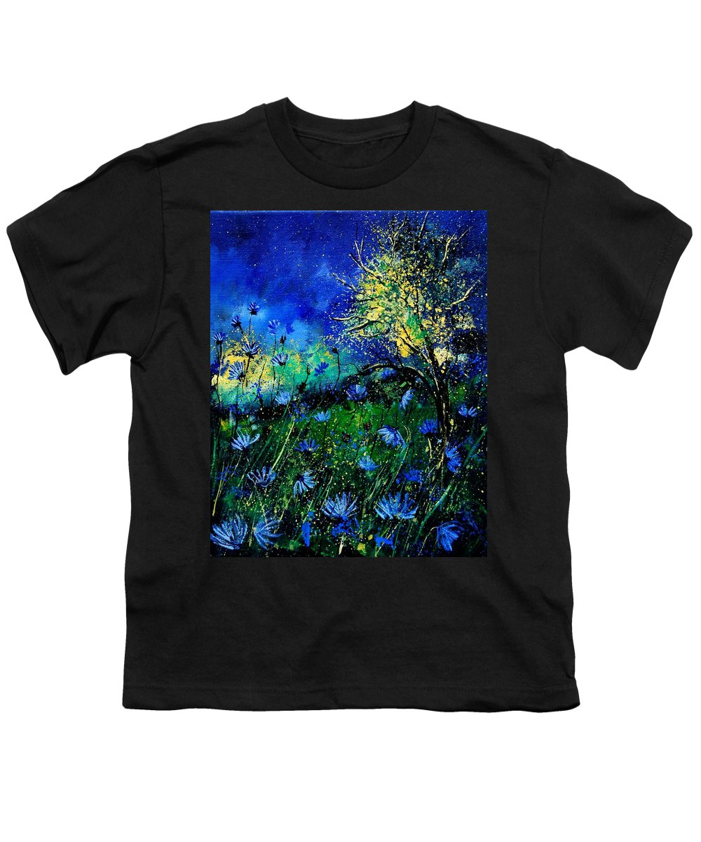 Poppies Youth T-Shirt featuring the painting Wild Chocoree by Pol Ledent