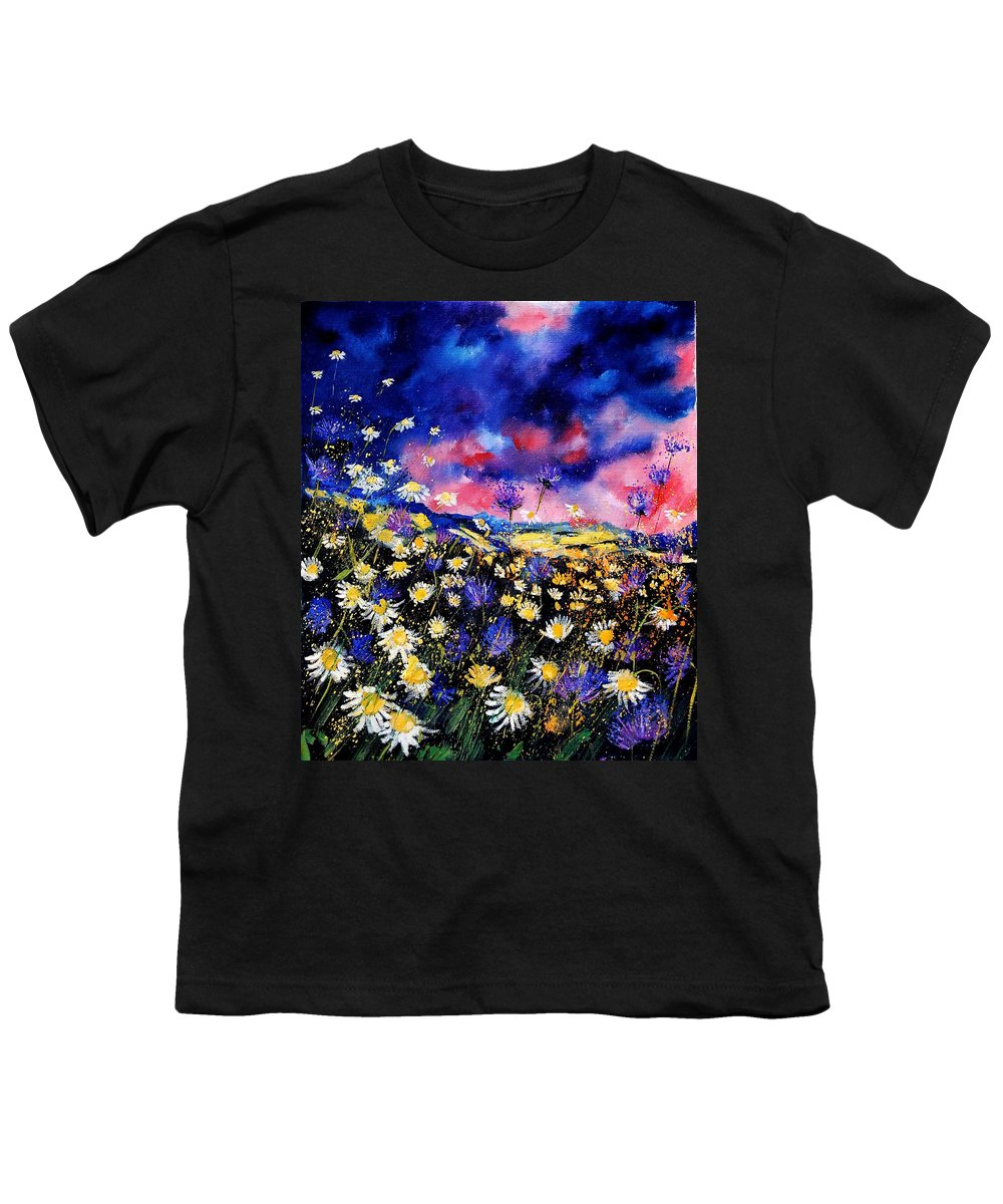 Flowers Youth T-Shirt featuring the painting Wildflowers 67 by Pol Ledent