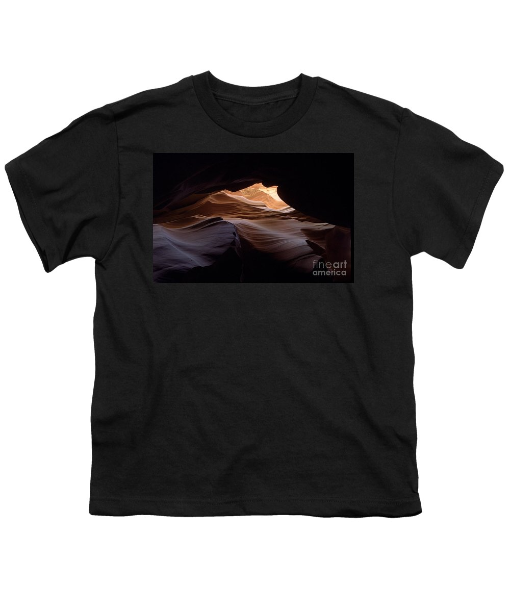 Antelope Canyon Youth T-Shirt featuring the photograph Wind And Water by Kathy McClure