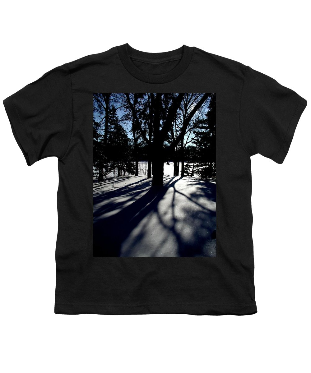 Landscape Youth T-Shirt featuring the photograph Winter Shadows 2 by Tom Reynen