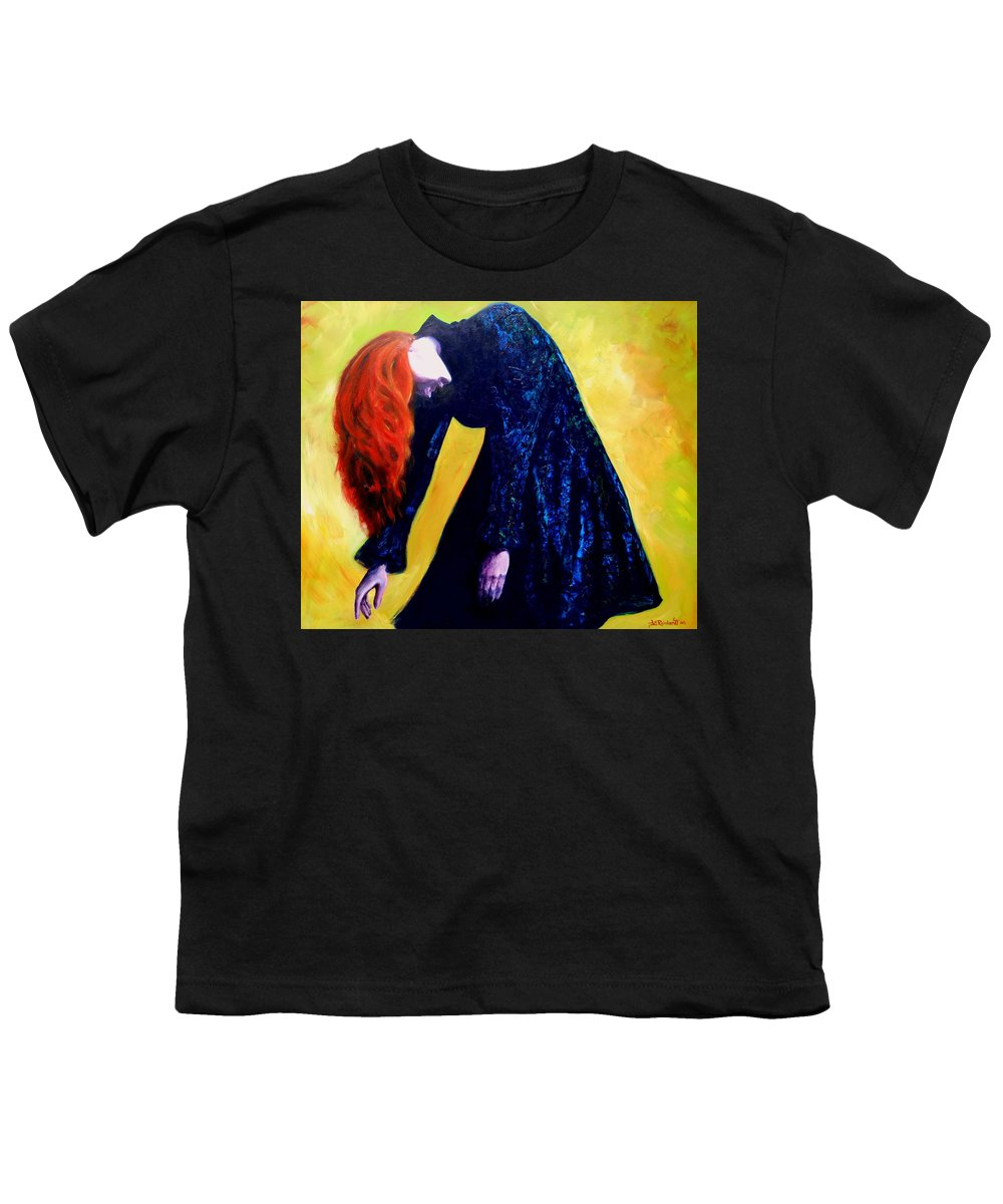Acrylic Youth T-Shirt featuring the painting Wound Down by Jason Reinhardt