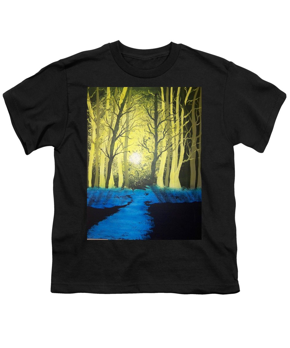 Forest Youth T-Shirt featuring the painting You Cant See The Forest For The Trees by Laurie Kidd