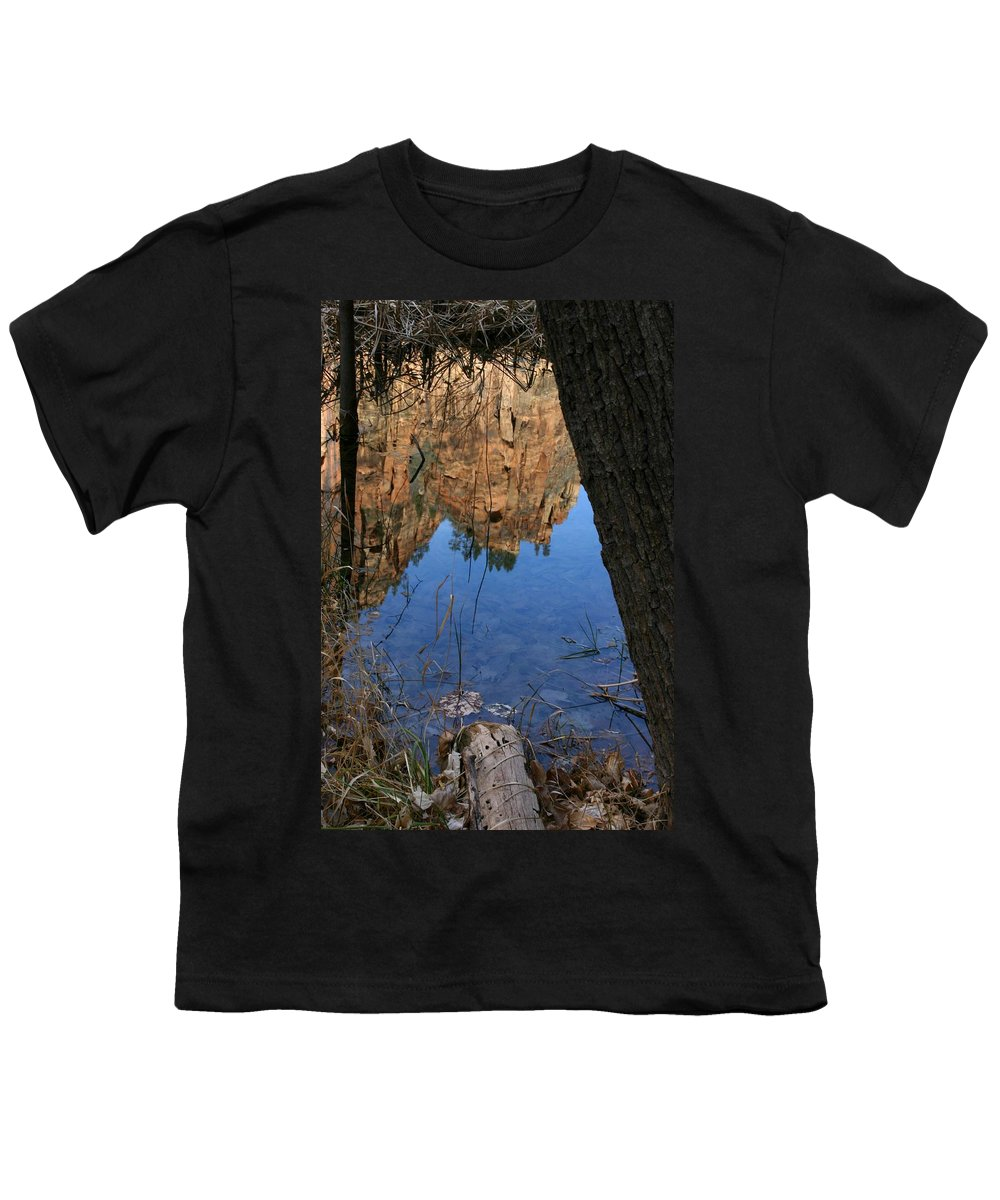 Zion Youth T-Shirt featuring the photograph Zion Reflections by Nelson Strong