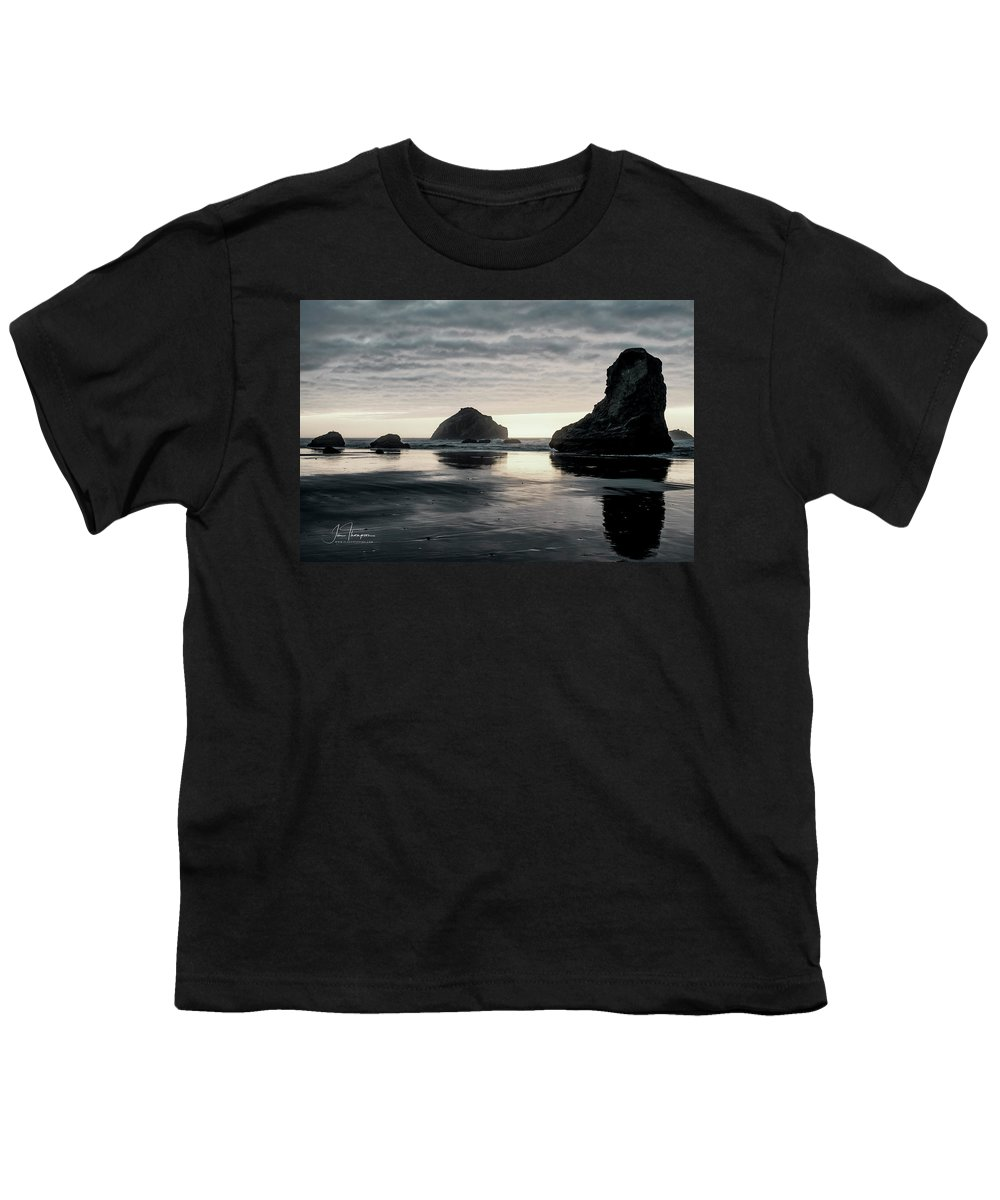 Bandon Beach Youth T-Shirt featuring the photograph Bandon Beach Sunset 1 by Jim Thompson