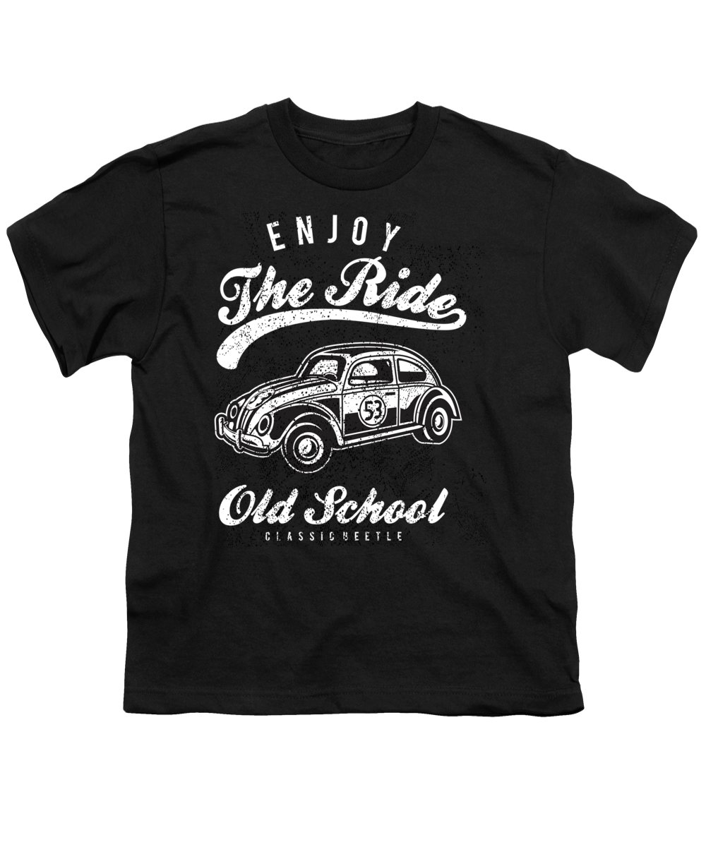 Distressed Youth T-Shirt featuring the digital art Enjoy The Ride Old School by Passion Loft