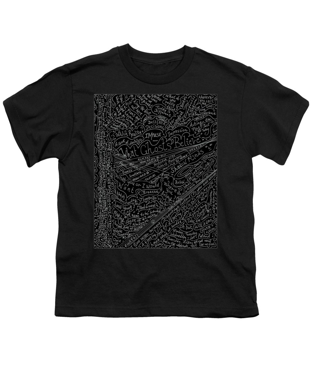 Poems Youth T-Shirt featuring the drawing Fun Titles For Stories Or Lines For Songs by Julia Woodman