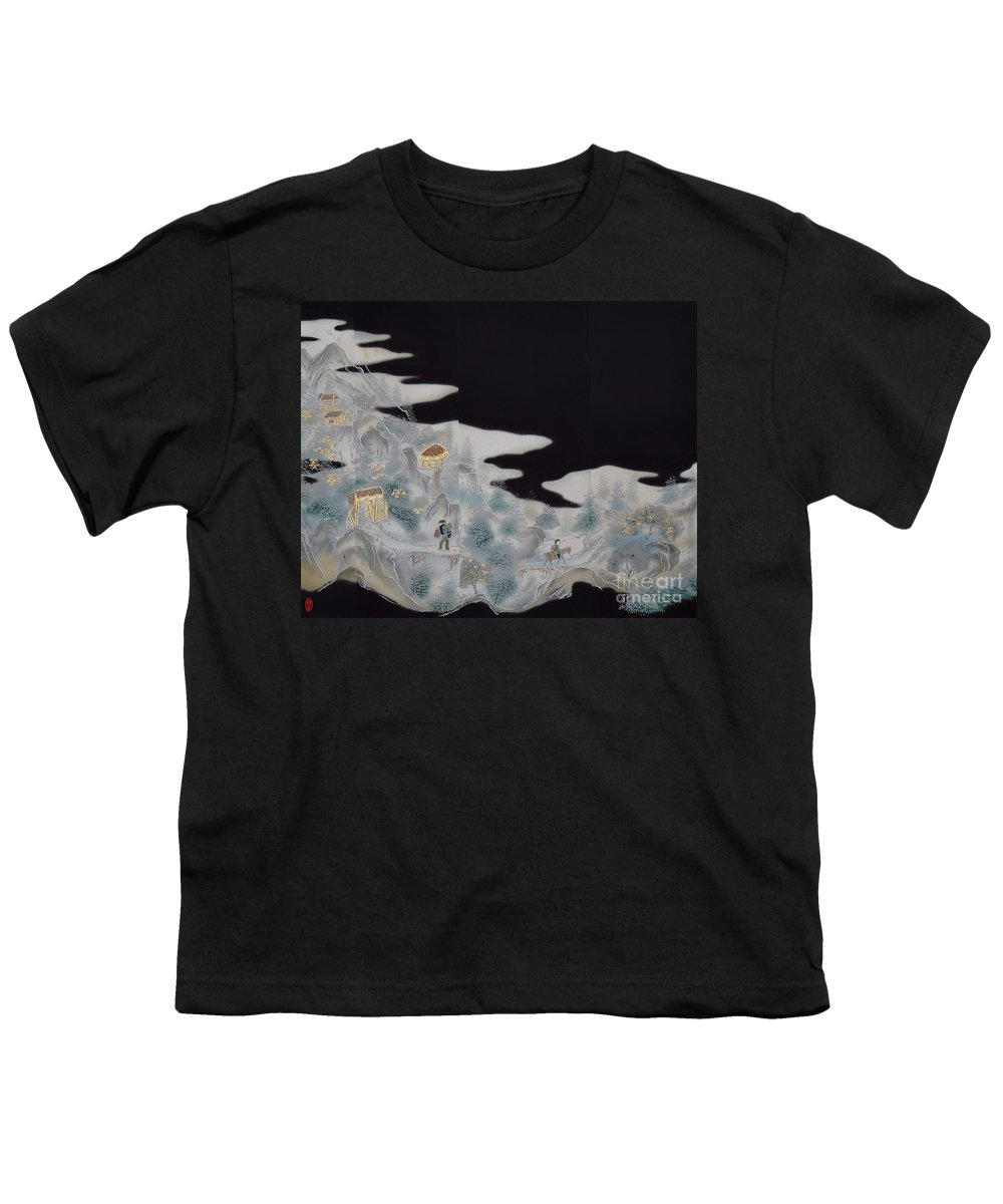 Youth T-Shirt featuring the digital art Spirit of Japan T9 by Miho Kanamori