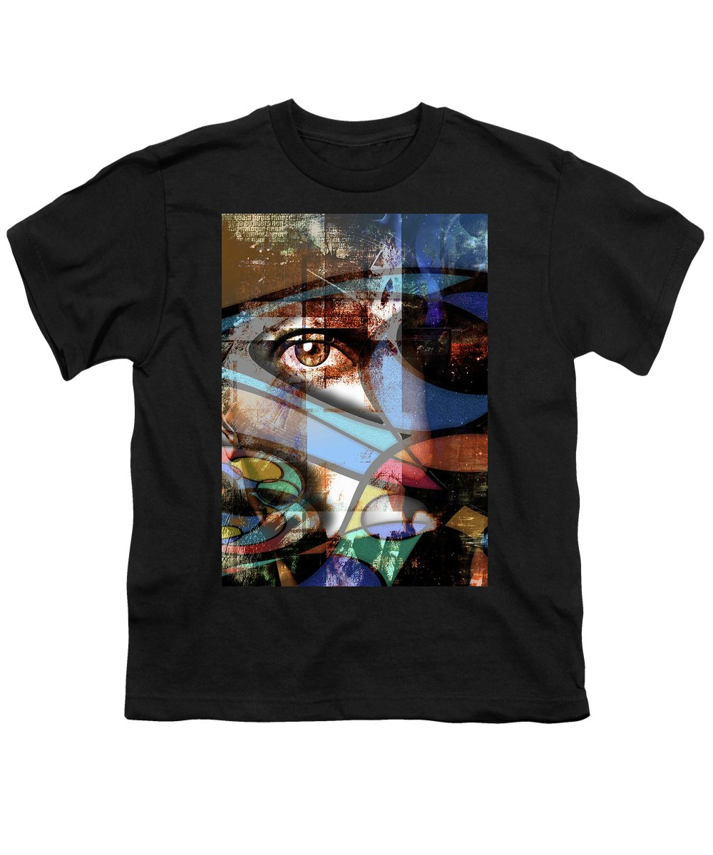 Abstract Youth T-Shirt featuring the digital art Watch by Bruce Rolff