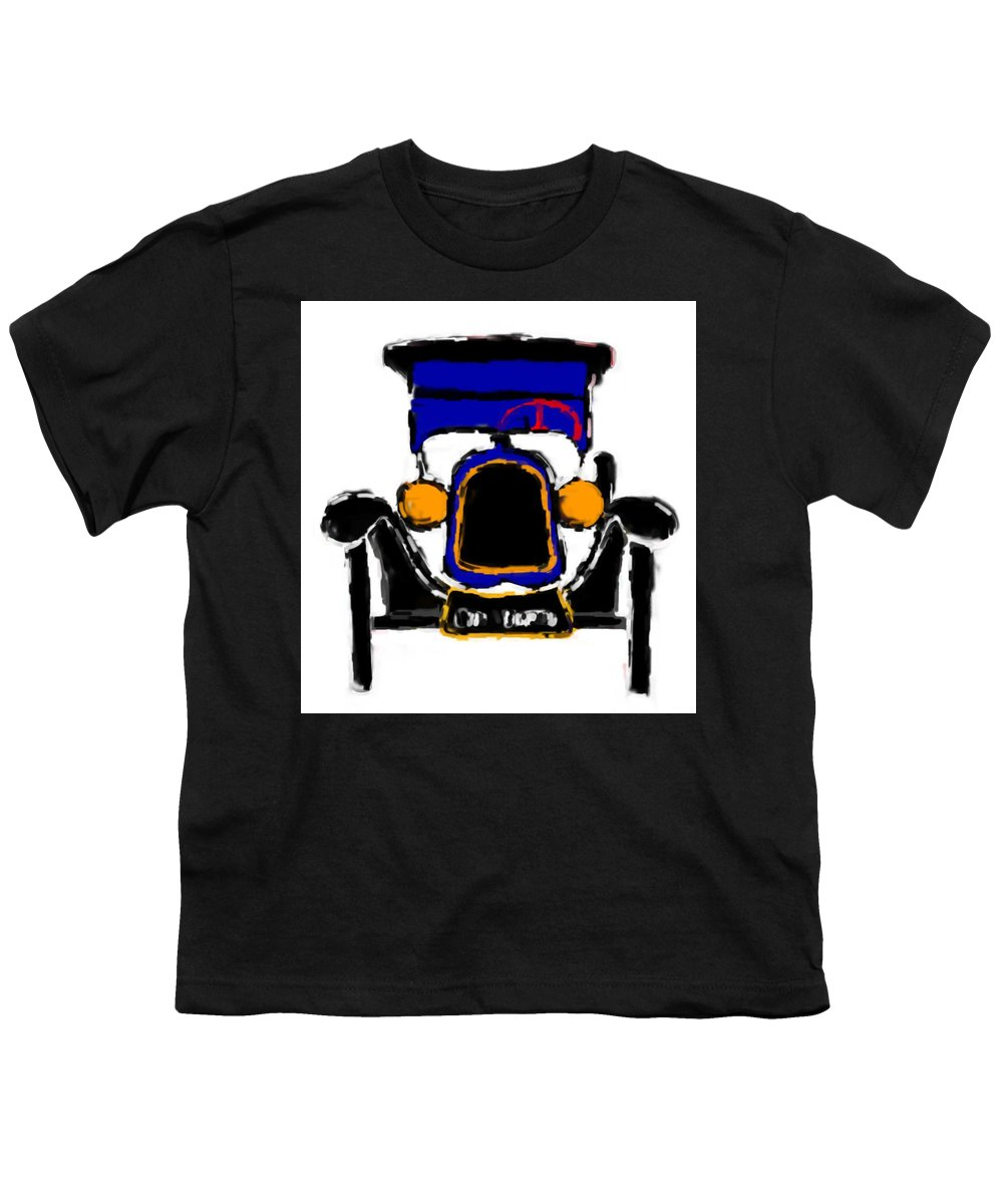 F1 Youth T-Shirt featuring the mixed media F1 by Asbjorn Lonvig