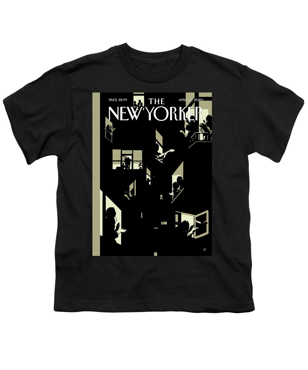 City Youth T-Shirt featuring the digital art A Chorus Of Thanks by Tomer Hanuka