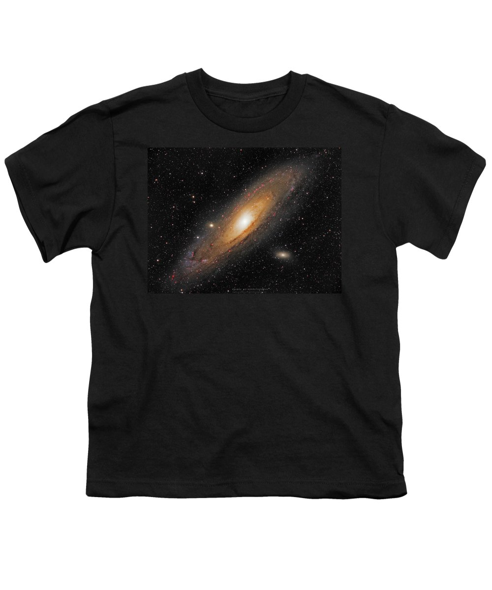 Andromeda Galaxy Youth T-Shirt featuring the photograph Andromeda Galaxy by Prabhu Astrophotography